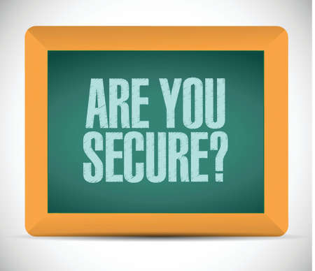 are you secure message illustration design over a white background