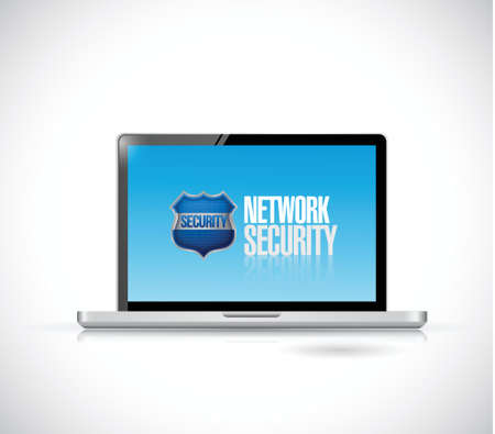 network security computer illustration design over a white background Vector