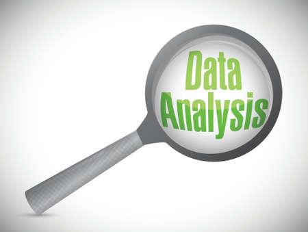 Análisis de datos ilustración del concepto de diseño sobre un fondo blanco Foto de archivo - 29257380