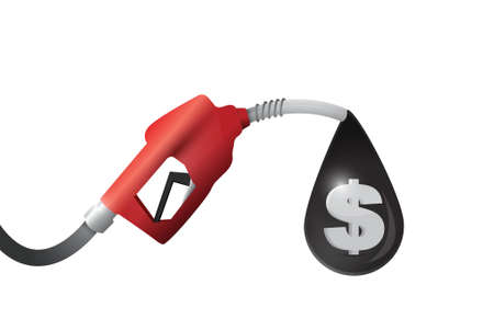 propellant: gas pump and dollar oil sign illustration design over a white background Illustration