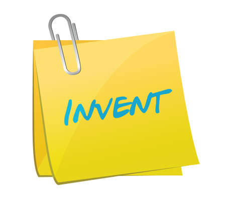 invent: invent post message illustration design over a white background