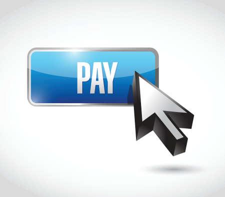 emoney: pay button illustration design over a white background Illustration