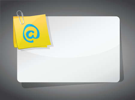 blank empty online board. illustration design over a grey background