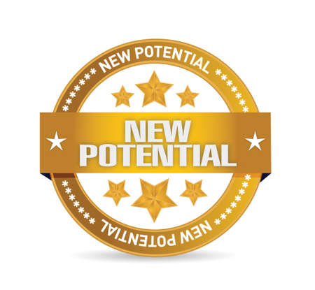 potential: new potential seal illustration design over a white background