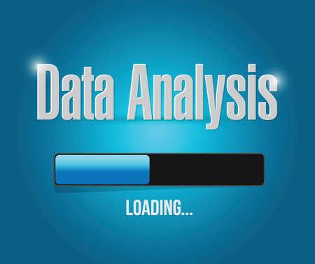 Análisis de los datos de carga de diseño ilustración sobre un fondo azul Foto de archivo - 29257545