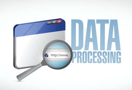 data processing: data processing browser illustration design over a white background Illustration