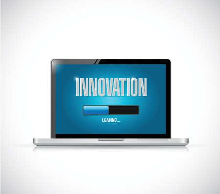 accessing: port�til de carga innovaci�n bar de dise�o ilustraci�n sobre un fondo blanco