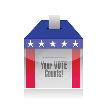 secrecy of voting: your vote counts voting poll illustration design over a white background Illustration