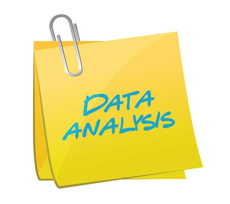Posterior análisis de los datos de diseño de ilustración sobre un fondo blanco Foto de archivo - 30014046