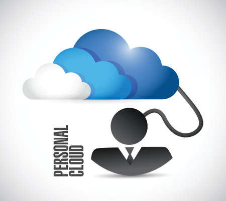 phone system: personal business cloud illustration design over a white background
