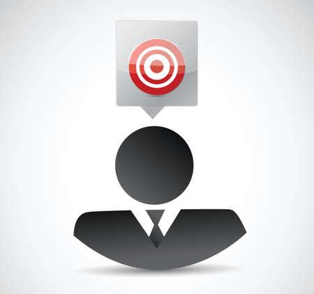 business avatar target illustration design over a white background Ilustrace