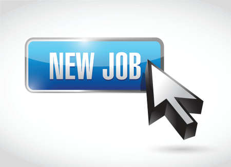 new job button illustration design over a white background Vector