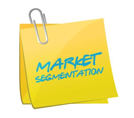 marktsegmentatie bericht illustratie ontwerp op een witte achtergrond Vector Illustratie