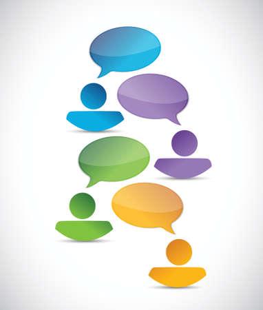 people business diversity communication illustration design over a white background Vector