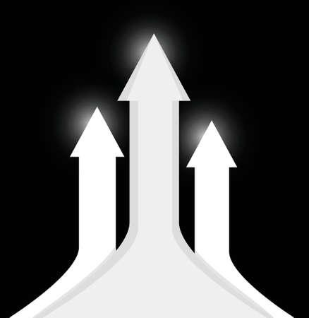 opportunity sign: large up arrow illustration design over a black background Illustration