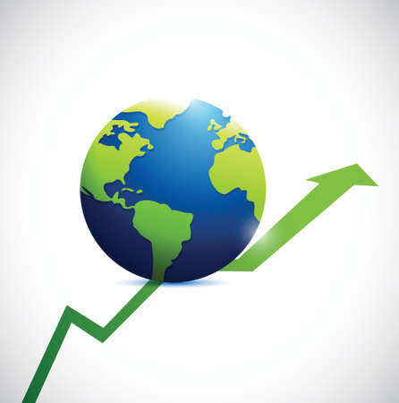 making earth: international business concept illustration design over a white background