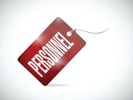 personnel tag illustration design over a white background Illustration