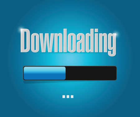 torrent: downloading bar illustration design over a blue background Illustration