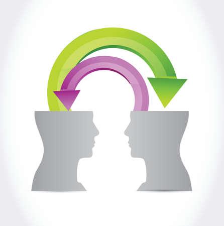business people communication illustration design over a white background Ilustração