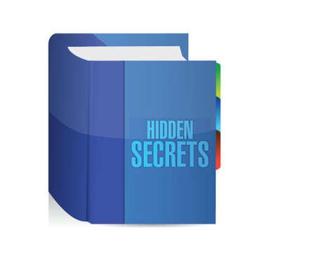 fib: oculta secretos ilustraci�n de libros de dise�o sobre un fondo blanco