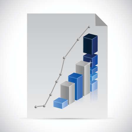 documentation: business paper documentation illustration design over a white background Illustration
