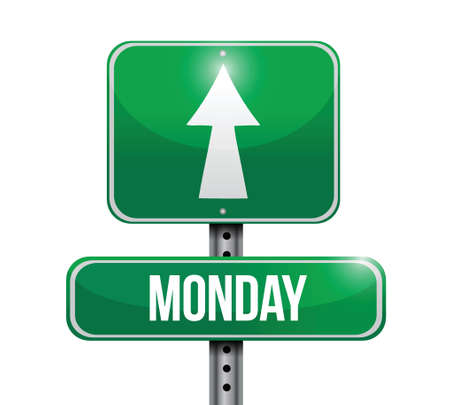 blank road sign: monday street sign illustration design over a white background