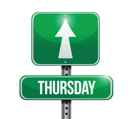 thursday: thursday street sign illustration design over a white background