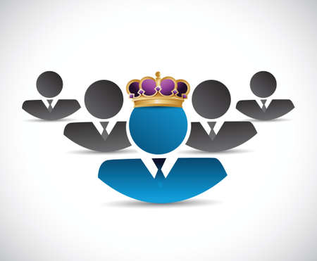 business king illustration design over a white background