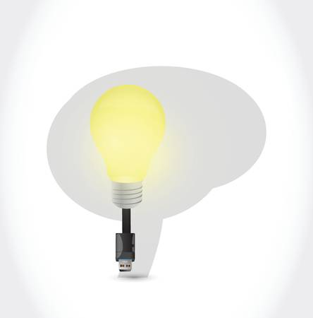 brain idea connections illustration design over a white background  イラスト・ベクター素材