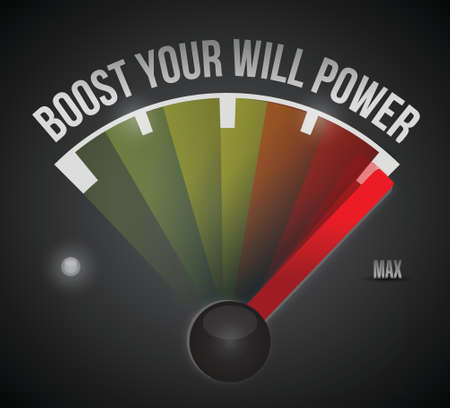max: boost your will power to the max illustration design over a black background
