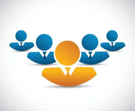 avatar business team illustration design over a white background Stock fotó - 30579137