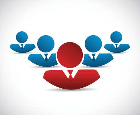procurement: teamwork and leader illustration design over a white background Illustration