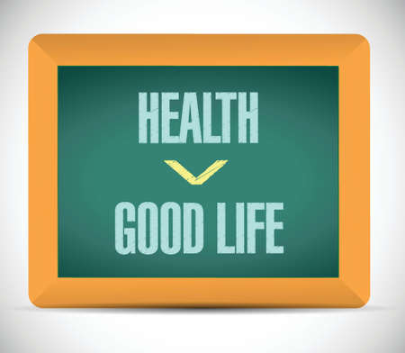 health and good life illustration design over a white background