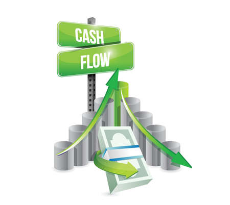 cash flow business graph illustration design over a white background