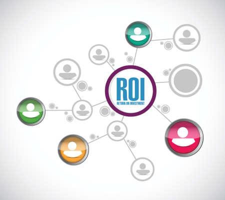 return on investment network illustration design over a white background Иллюстрация