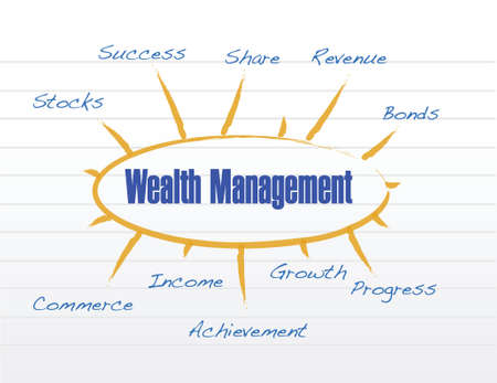 wealth management model illustration design over a white background