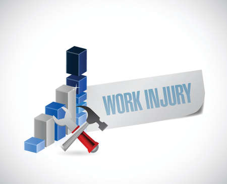 business work injury graph illustration design over a white background