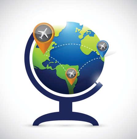business transportation atlas map illustration design over a white background Illustration