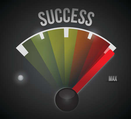 success speedometer to the max illustration design over a black background Vector