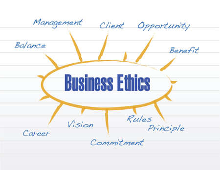 business ethics model illustration design over a white background