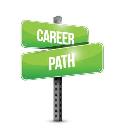 career path sign illustration design over a white background Illustration