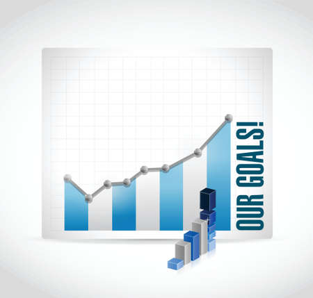 business our goals graphs illustration design over a white background