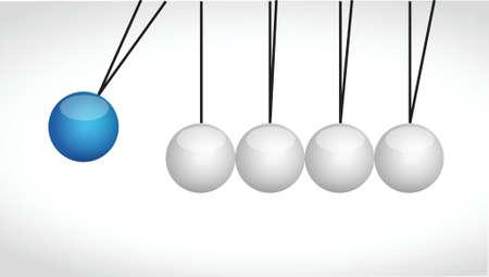 pendulum: sphere balls hitting each other illustration design over a white background