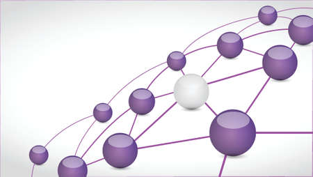 interconnection: sphere connection link tech network illustration design over a white background Illustration