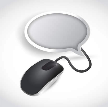 mouse and speech bubble. illustration design over a white background