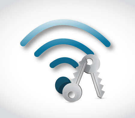 wifi keys and security concept. illustration design over a white background Stock fotó