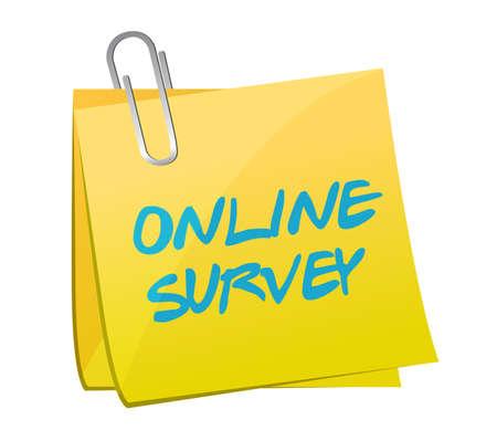 web survey: online survey post book illustration design over a white background