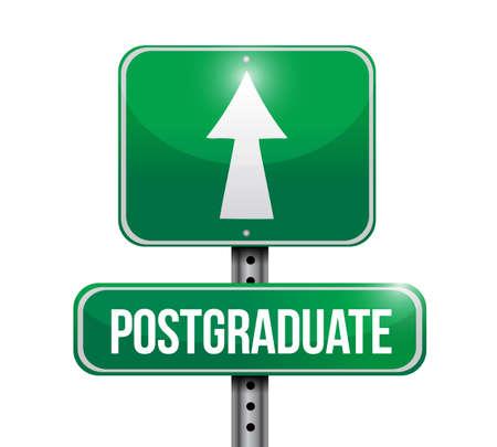 postgraduate street sign illustration design over a white background Stock Photo
