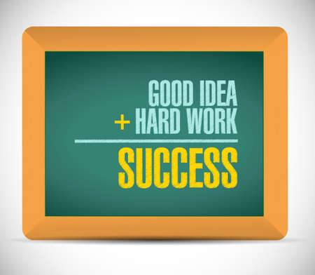 equals: success equation message illustration design over a white background Stock Photo