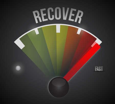 herstelproces illustratie ontwerp op een zwarte achtergrond Stockfoto